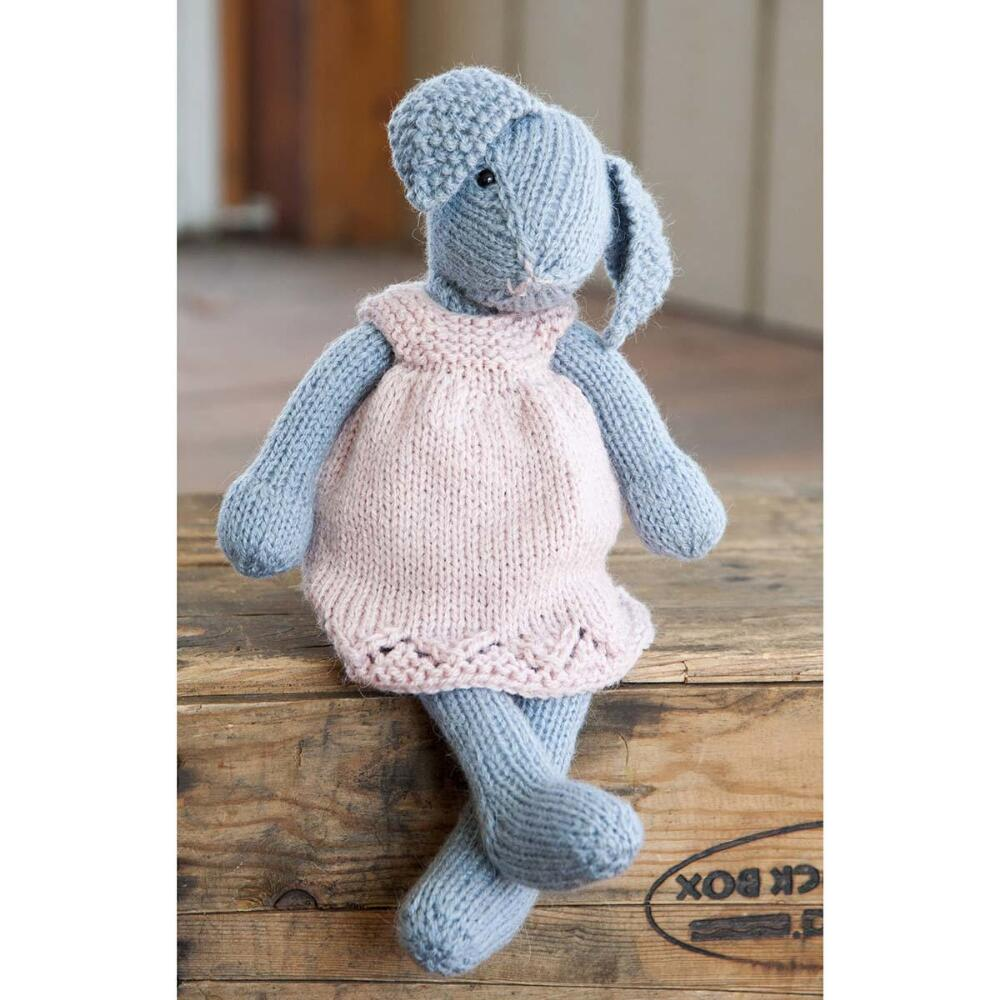 Knitted Rabbit Pattern : Lizzie Rabbit Free Knitting Pattern Download ? Knitting Bee