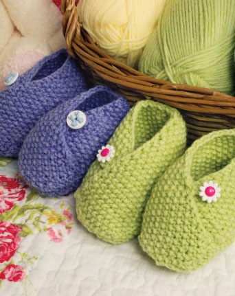 Wrapover Baby Shoes Free Knitting Pattern