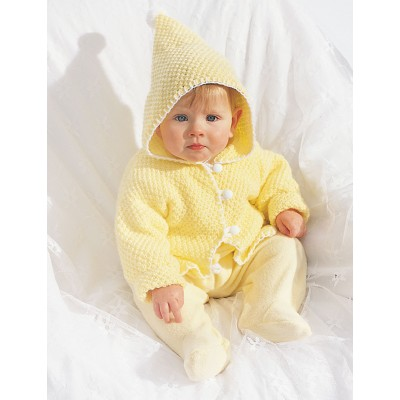 Hooded Baby Jacket Free knitting