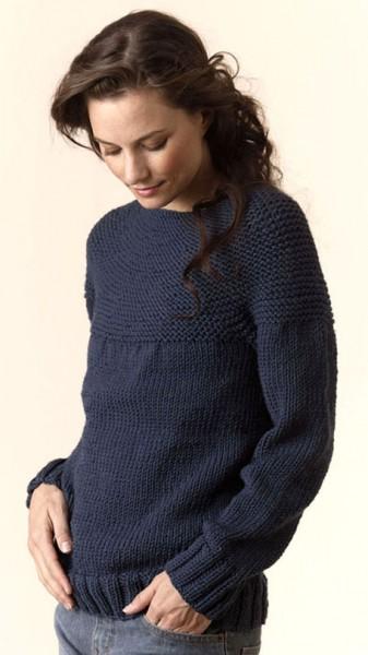 Torino Bulky Circular Pullover Free Knitting Pattern