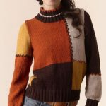 color block pullover knit pattern