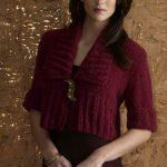 Vogue Knitting Pasha Knit Shawl-Collar Cropped Cardigan