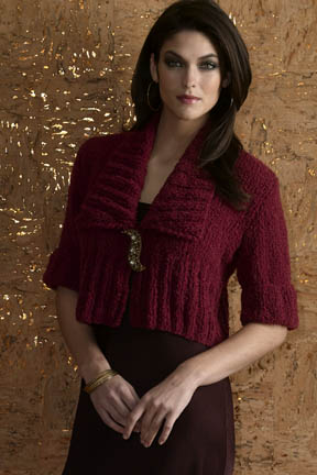 Vogue Knitting Pasha Knit Shawl Collar Cropped Cardigan Knitting Bee