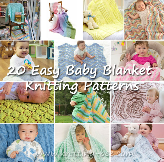 20 Easy Baby Blanket Knitting Patterns ⋆ Knitting Bee