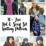 30 Free Hat and Scarf Set Knitting Patterns http://www.knitting-bee.com/
