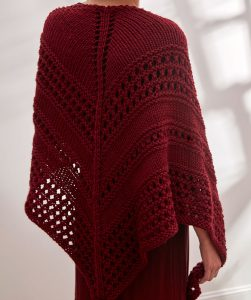 Totally Styled Shaw Free Knitting Pattern