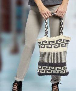 Swirls and Stripes Mosaic Bag Free Knitting Pattern
