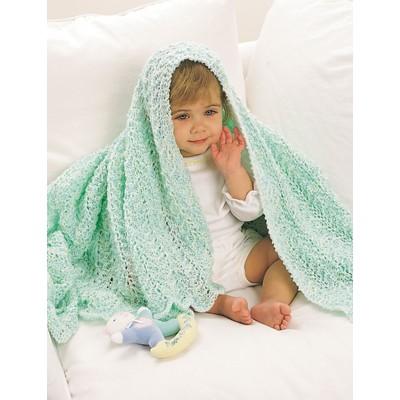 Bernat Afghan Lace Ripple Baby Blanket