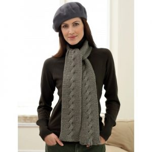 Bernat Cable Scarf easy free knitting pattern