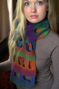 Gina Boxy Scarf free knitting pattern