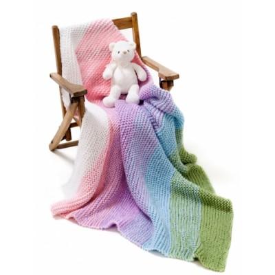 Gradient Garter Baby Blanket Free crochet pattern