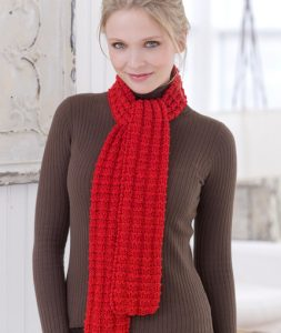 Heartwarming Knit Scarf free easy knit pattern