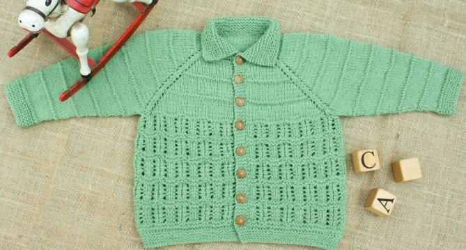 Heirloom Baby Cardigan Free Knitting Pattern
