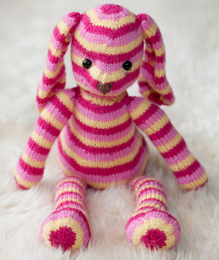 Hop Along Bunny Free Knit Pattern