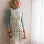 Layered Lace Dress Free Knitting Pattern