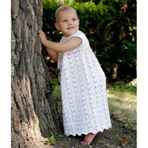 Lily Of the Valley Free Christening Gown Knitting Pattern Download