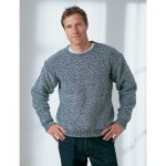 Men's Dropshoulder Sweater Free Knitting Pattern
