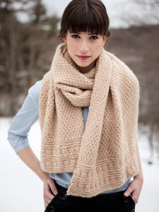 Navarra Easy Scarf Knitting Pattern