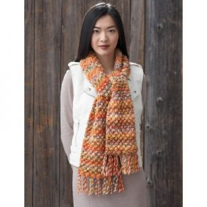 Patons Bramble Stitch Scarf free knitting pattern