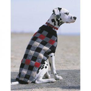 Patons Canine Checks Jacket Free Knitting Pattern