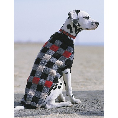 Patons Canine Checks Jacket Free Knitting Pattern