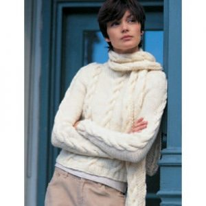 Patons Easy Street Pullover and Scarf Free Knitting Pattern