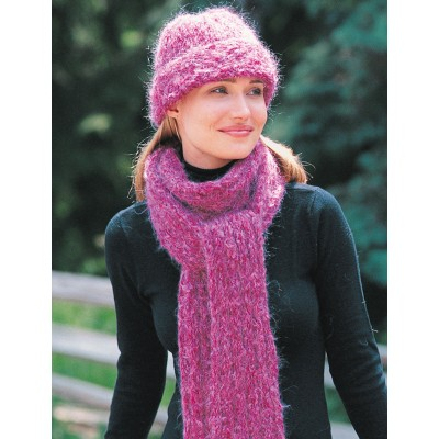 Patons Hat & Scarf Free Knitting Pattern