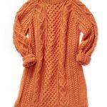 Patons Honeycomb Aran Dress Free Knitting Pattern