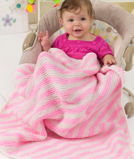 Peppermint Stripes Blanket