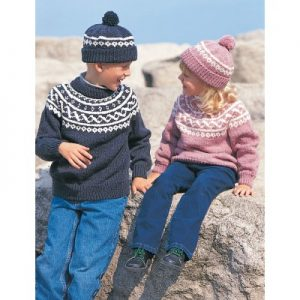 Pullover & Toque Free Easy Child's Sweater Knit Pattern