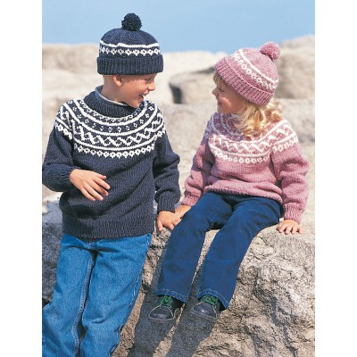 Pullover Toque Free Easy Childs Sweater Knit Pattern Knitting Bee