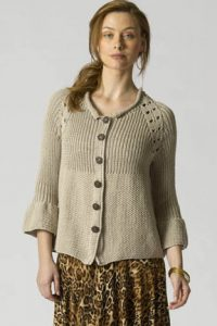 Raglan Swing Jacket Free Knitting Pattern