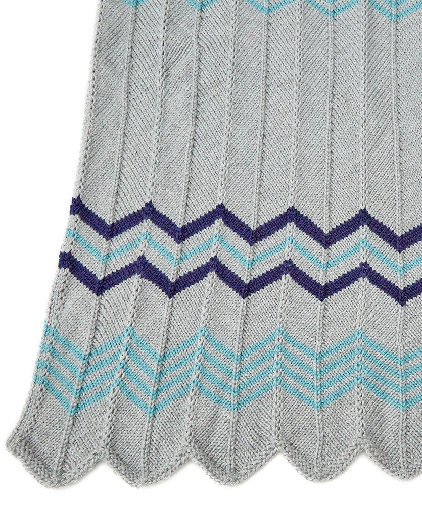 Relaxing Ripple Throw Free Knitting Pattern ⋆ Knitting Bee