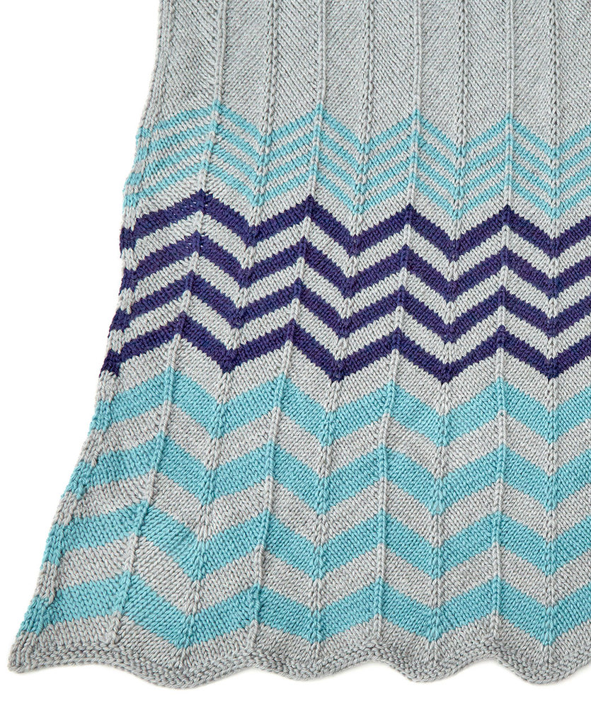 Knitting Ideas For The Home : Relaxing ripple throw free knitting pattern bee
