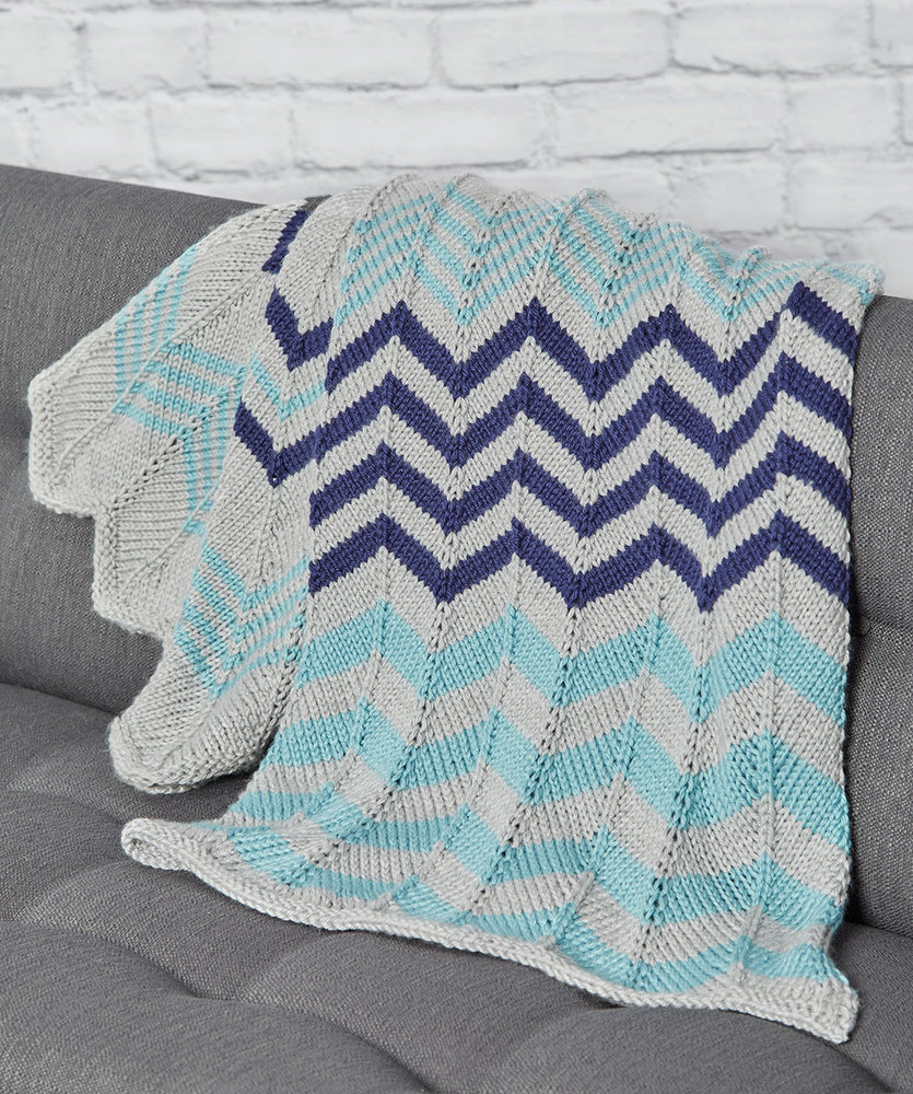 Relaxing Ripple Throw Free Knitting Pattern