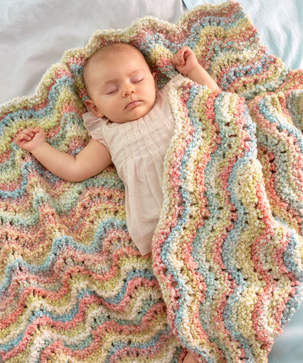 Rocking Waves Blanket free pattern baby
