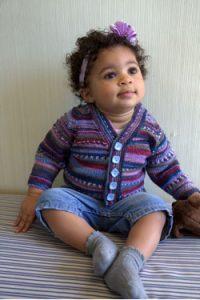 Seamless Baby Cardigan Free Knitting Pattern