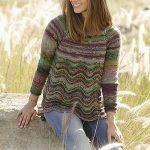 Spring Forest Wavy Stitch Sweater Jumper Free Knitting Pattern