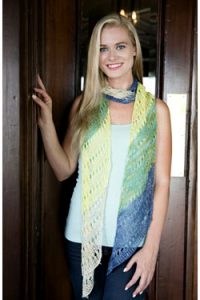 Striped Diagonal Scarf free knit pattern