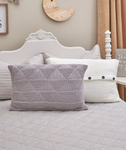 Textured Triangle Pillows Free Knitting Pattern