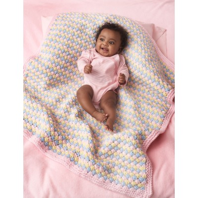 Tri-Color Baby Blanket free pattern