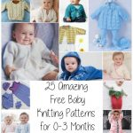 25 Amazing Free Baby Knitting Patterns for 0-3 Months from http://www.knitting-bee.com