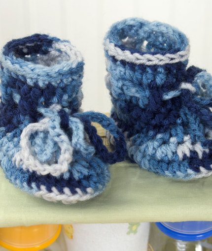 Baby Boots Free Beginner Crochet Pattern Knitting Bee