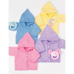 easy baby hoodie to make knitting