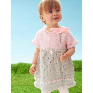 Bernat Cozy Posie Dress Free Knitting Pattern