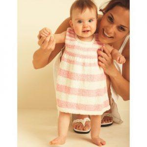Bernat First Steps Dress Free Knitting Pattern