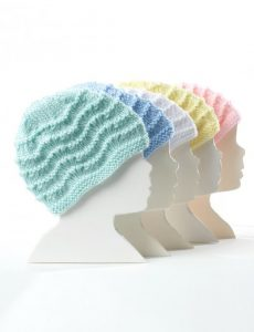 Bernat Knit Baby Hat Free Knitting Pattern