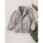 Bernat Shawl Collar Cardigan Free Beginner Baby's Knit Pattern