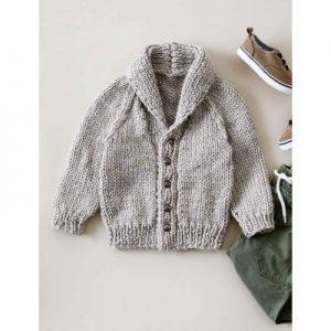 Bernat Shawl Collar Cardigan Free Beginner Baby's Knit Pattern