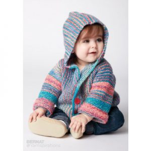 Bernat Show Your Stripes Knit Jacket Free Knitting Pattern